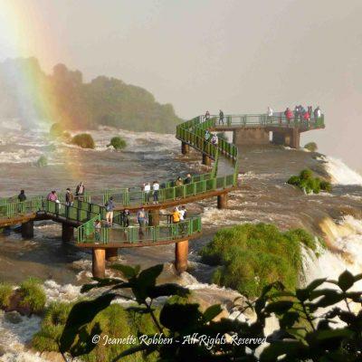 Iguazu Falls platform by Jeanette Robben
