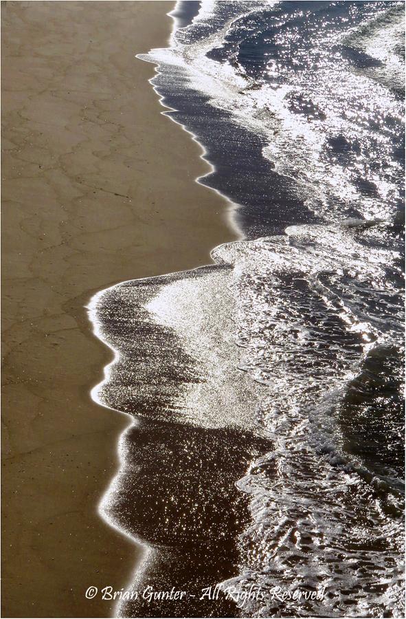 Bar Beach Abstract by Brian Gunter