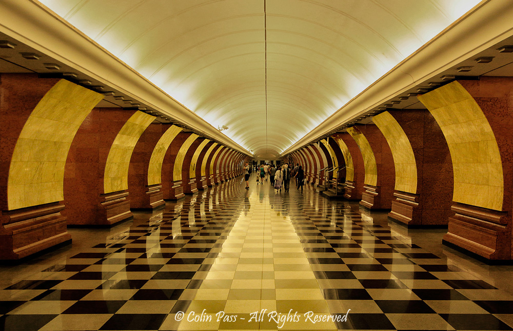 Moscow Metro station by Colin Pass