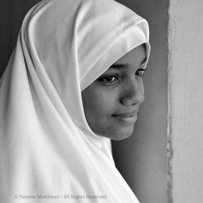Muslim girl by Yvonne Matthews